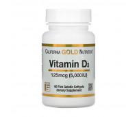 California Gold Nutrition Vitamin D3 125 mcg