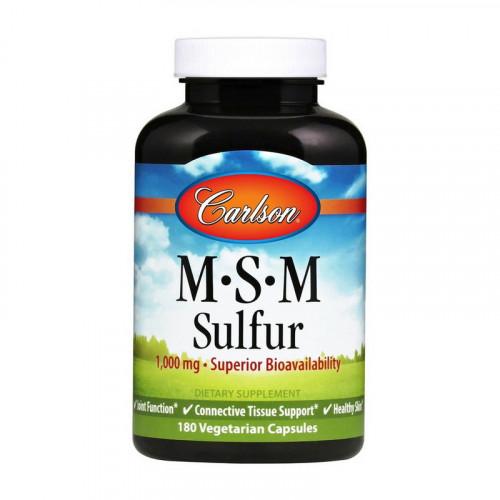 Фото Carlson Labs MSM Sulfur 1000 mg 180 капсул
