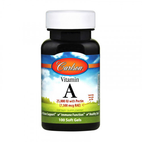 Фото Carlson Labs Vitamin A 7,500 mcg (25,000 IU) 100 капсул