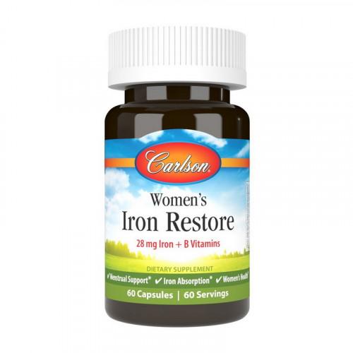 Фото Carlson Labs Women's Iron Restore 28 mg Iron + B Vitamin 60 капсул