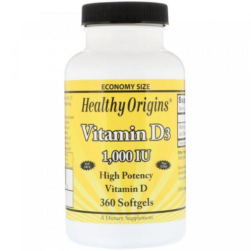 Фото Healthy Origins Vitamin D3 1000 IU
