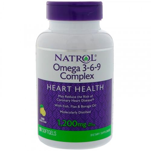 Фото Natrol Omega 3-6-9 Complex, омега 3 6 9