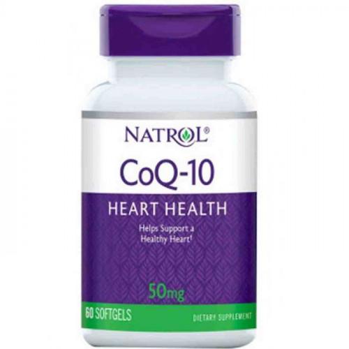 Фото Natrol CoQ-10 60 капсул, коэнзим q10 50 мг