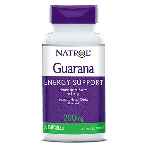 Фото Natrol Guarana 200 mg 90 капсул