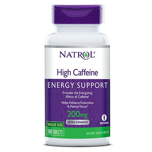 Фото Natrol High Caffeine 200 mg 100 таблеток