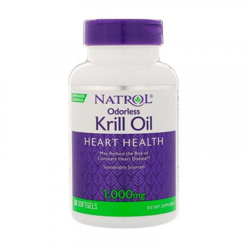 Фото Natrol Odorless Krill Oil Heart Health 1000 mg 30 капсул