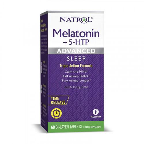 Фото Natrol Melatonin + 5-htp 60 таблеток