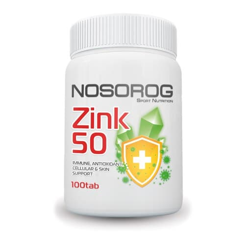 Фото Nosorog Zinc 50 mg 100 таблеток