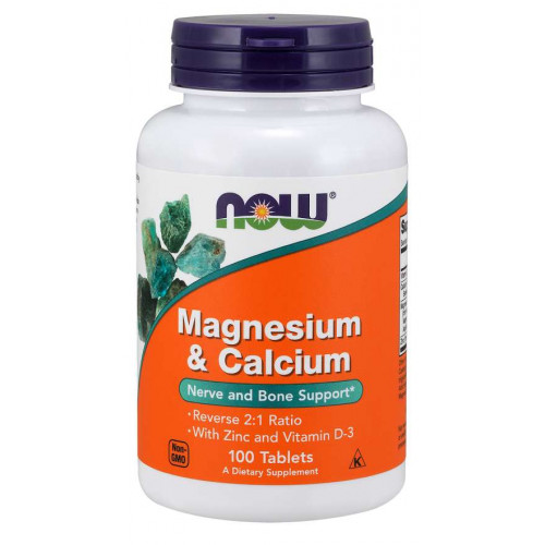 Фото NOW Magnesium & Calcium, кальций магний витамин д
