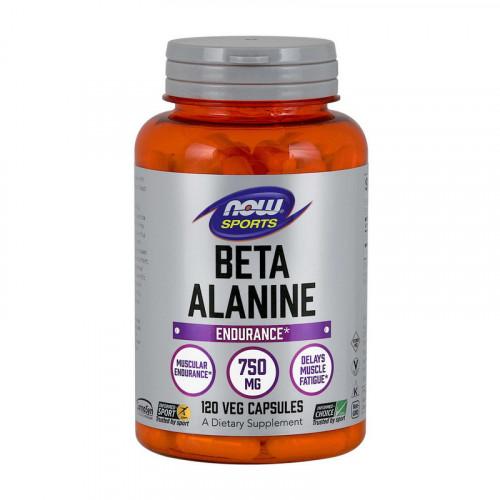 Фото NOW Beta-Alanine 750 mg 120 капсул