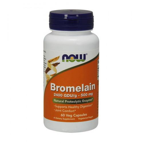 Фото NOW Bromelain 500 mg 60 капсул