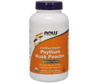 NOW Certified Organic Psyllium Husk Powder