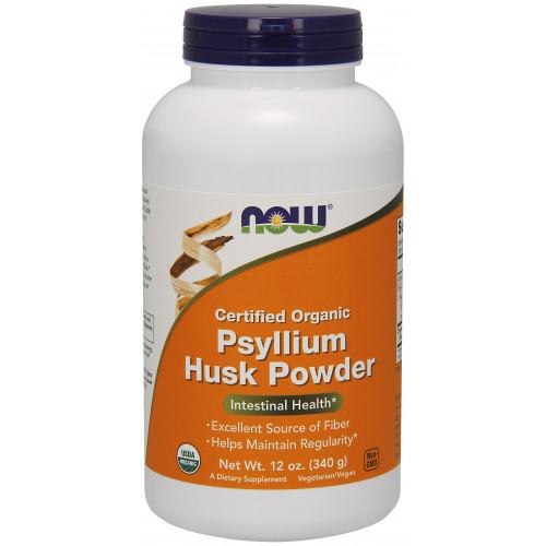 Фото NOW Certified Organic Psyllium Husk Powder 340 грамм