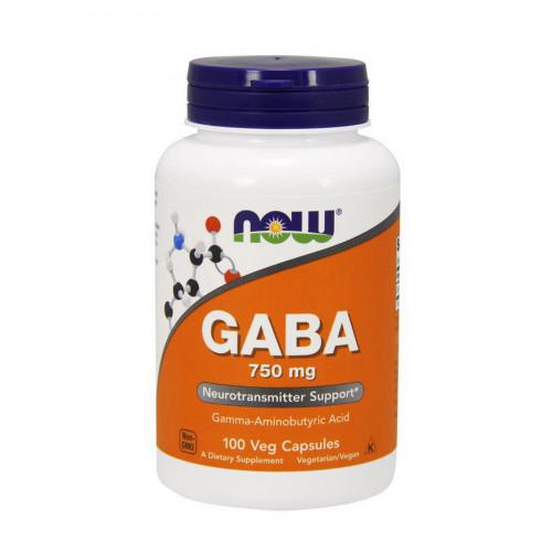 Фото NOW GABA 750 mg 100 капсул