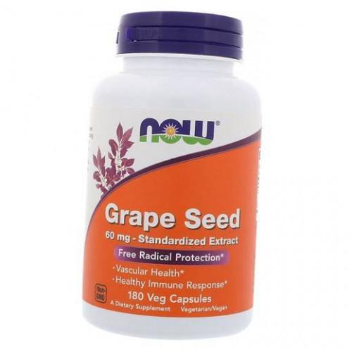 Фото NOW Foods Grape Seed 60 mg 90 капсул