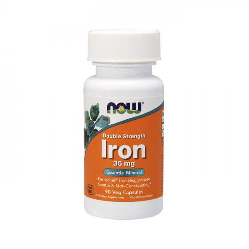 Фото NOW Iron 36 mg Double Strength 90 капсул