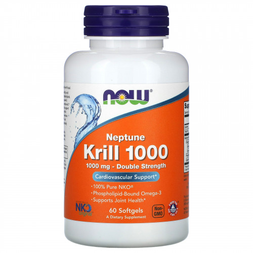 Фото NOW Neptune Krill Oil 1000 mg 60 капсул