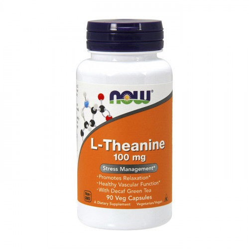 Фото NOW L-Theanine 100 mg 90 капсул