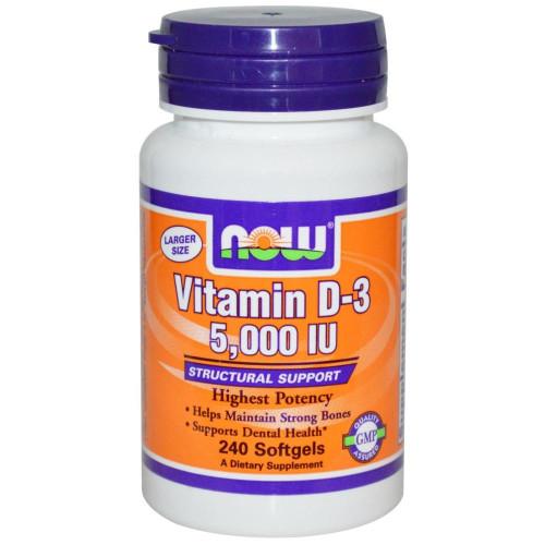 Фото NOW Vitamin D3 5000 ME