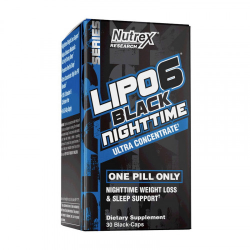 Фото Nutrex Lipo 6 Black NightTime Ultra concentrate 30 капсул