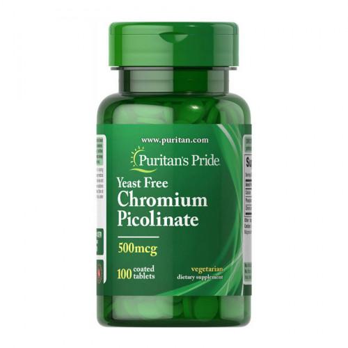 Фото Puritan's Pride Chromium Picolinate 500 mcg Yeast Free 100 таблеток