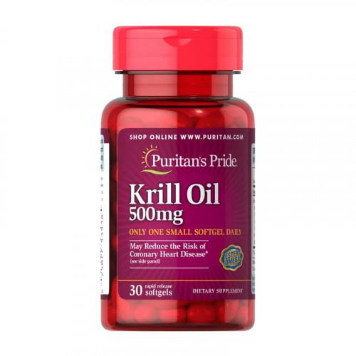 Фото Puritan's Pride Krill Oil 500 mg 30 капсул