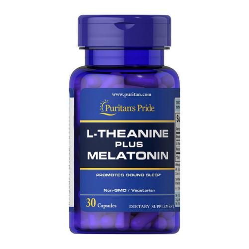 Фото Puritan's Pride L-Theanine plus Melatonin 30 капсул