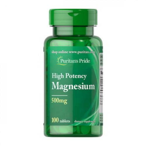 Фото Puritan's Pride Magnesium 500 mg High Potency 100 таблеток