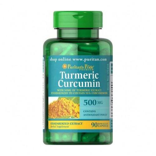 Фото Puritan's Pride Turmeric Curcumin 500 mg 90 капсул