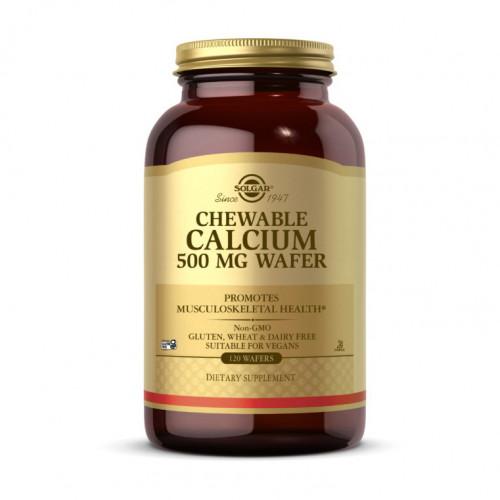 Фото Solgar Chewable Calcium 500 mg Wafer 120 таблеток