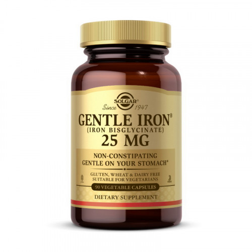 Фото Solgar Gentle Iron 25 mg (iron bisglycinate)