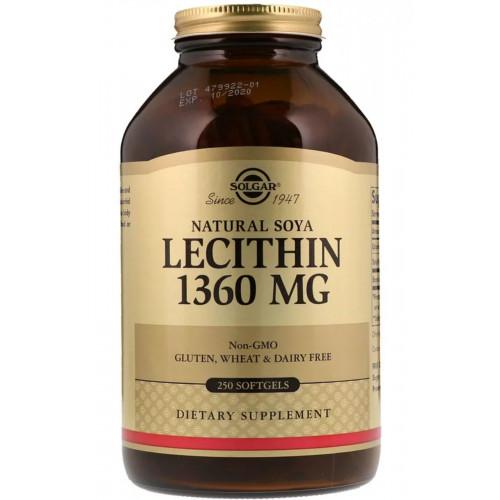 Фото Solgar Lecithin 1360 мг 100 капсул