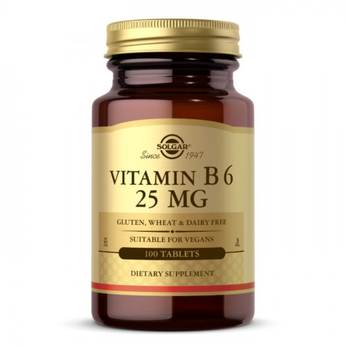 Фото Solgar Vitamin B6 25 mg 100 таблеток
