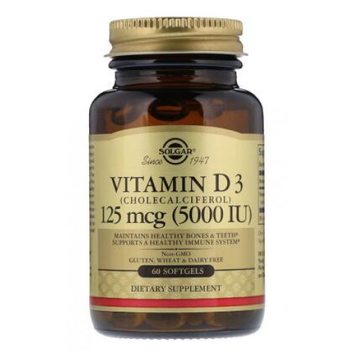 Фото Solgar Vitamin D3 125 мкг 5000 МЕ