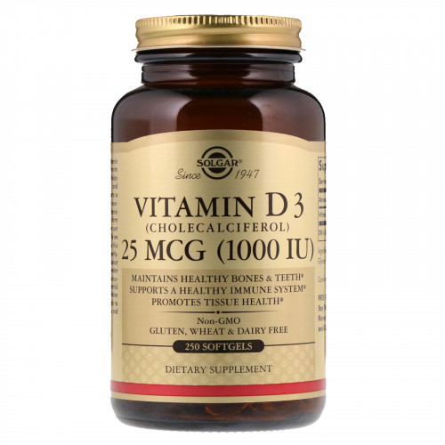 Фото Solgar Vitamin D3 25 мкг 1000 МЕ