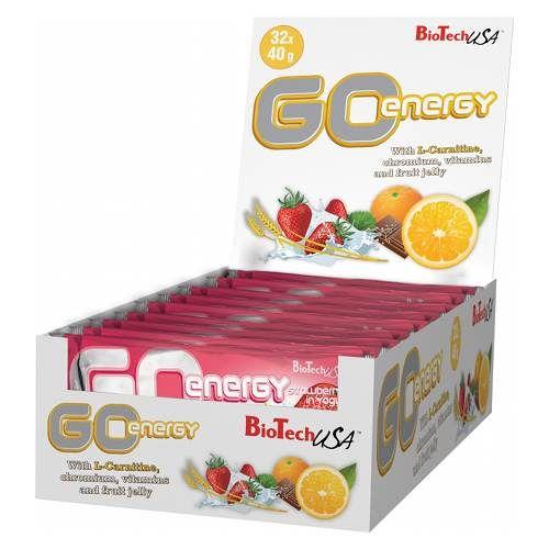 Фото BioTech USA Go Energy bar, батончики с l-карнитином