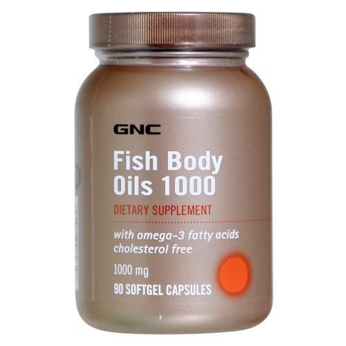 Фото GNC Fish Body Oils 1000, рыбий жир