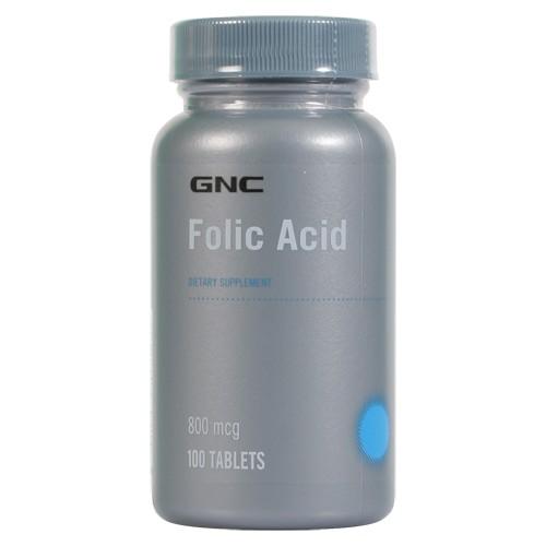 Фото GNC Folic Acid 800 mcg, фолиевая кислота