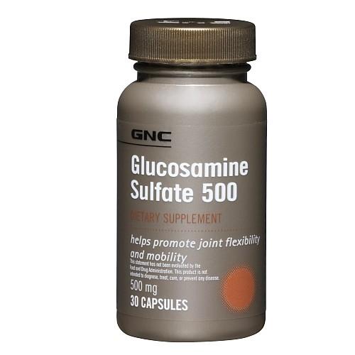 Фото GNC Glucosamine Sulfate 500, для суставов и связок