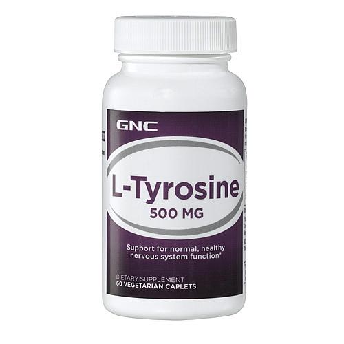 Фото GNC L-Tyrosine 500 mg, тирозин