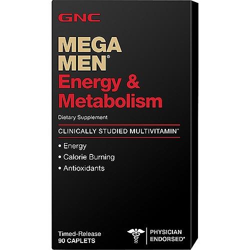 Фото GNC Mega Men Energy & Metabolism, витамины для энергии и бодрости