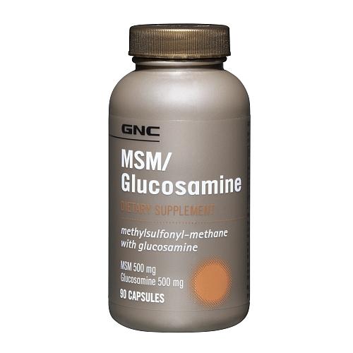 Фото GNC MSM Glucosamine, для суставов и связок