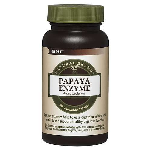 Фото GNC Papaya Enzyme, ферменты