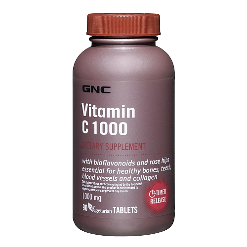 Фото GNC Vitamin C 1000 Time Release, Витамины