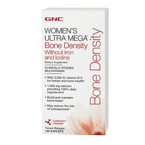 Фото GNC Womens Ultra Mega Bone Density Without Iron and Iodine, витамины