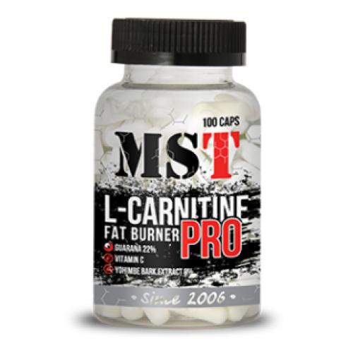 Фото MST L-Carnitine PRO with Yohimbine, натуральный жиросжигатель