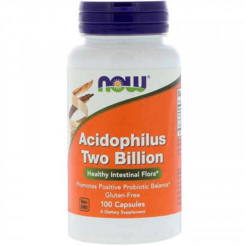 Фото NOW Acidophilus Two Billion, пробиотики