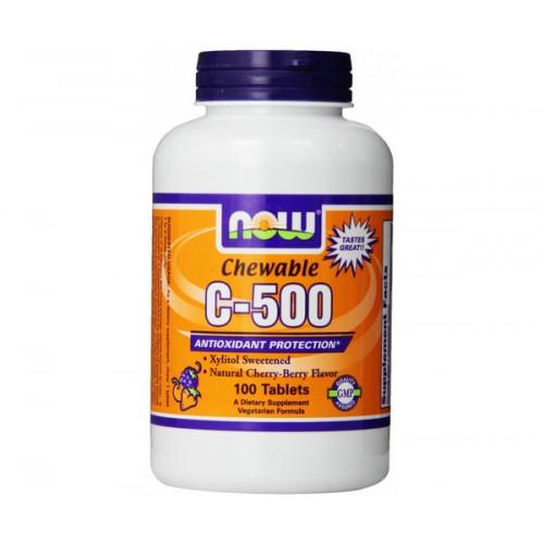 Фото NOW C-500 chewable, витамин С