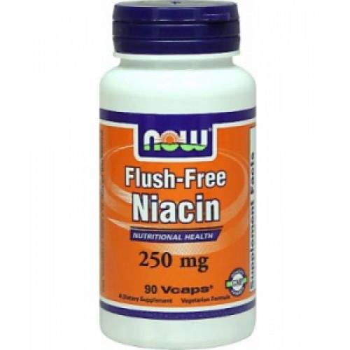Фото NOW Flush-Free Niacin 250, ниацин