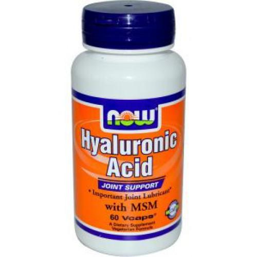 Фото NOW Hyaluronic Acid 50 mg, гиалуроновая кислота